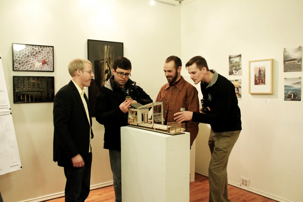 Architectural Project Manager, Duane Warren (Second from right)  was happy to discuss about the GRoW project.