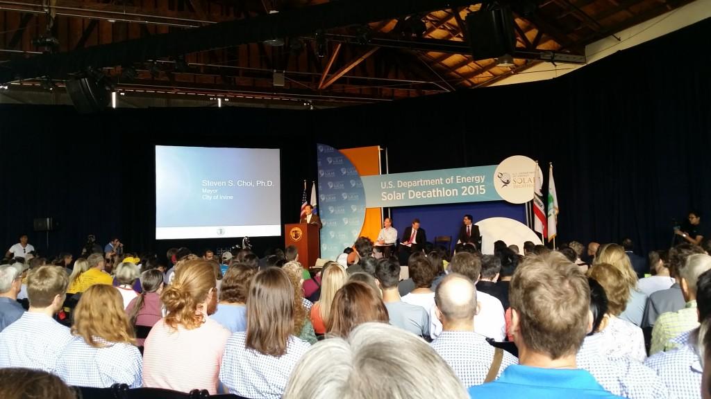 Prize giving ceremony in Irvine