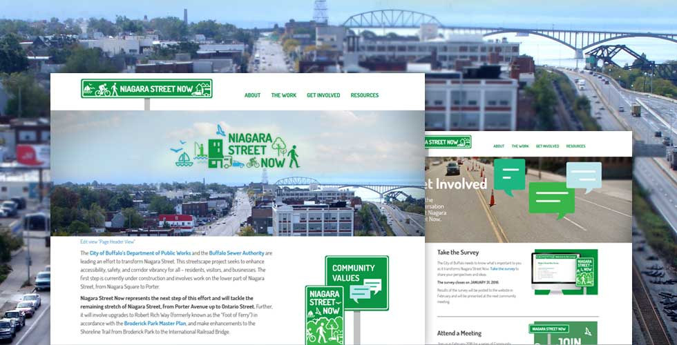 Niagara Street Now website