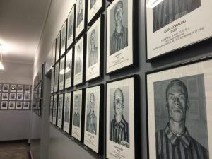A handful of the faces of prisoners who died here. Below each picture was each individual's place of origin, their age, the date they arrived in the camp and when they died in the camp. Many of the ones I read died after about a week of entering the camp.