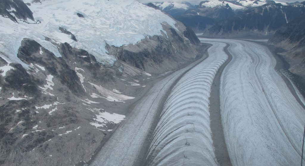 Glacier flow in Alaska