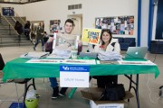GRoW team posing with the booth during Earth Week