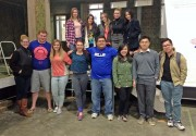 Spring 2015 COM466 students at the Warehouse