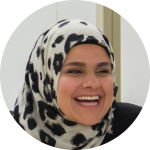 Headshot of Ghalia, member of Communications and Architecture team