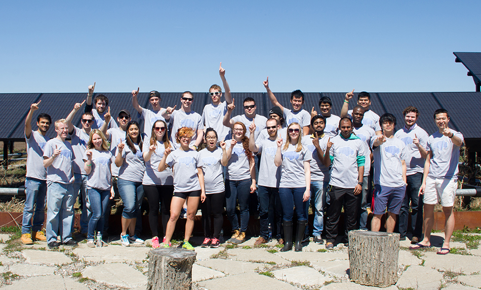 Team members celebrate sustainability