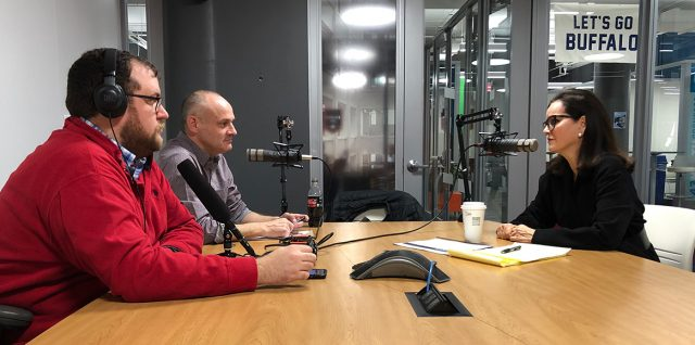 Benson, Treadway and Dedecker record the podcast