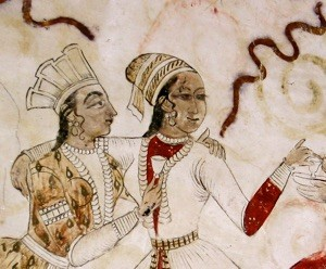 Painting of two Indian lovers